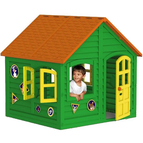 домик детский пластмассовый зеленый