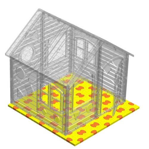 Площадка для детских домиков Puzzle Playground 125х125 см