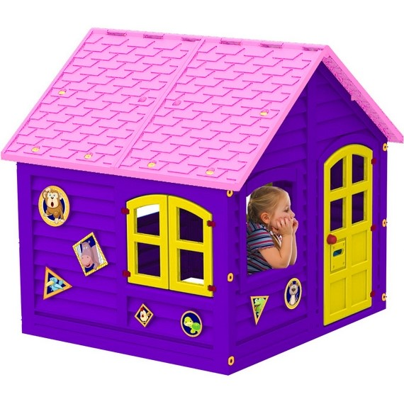 Детский Домик фиолетово-розовый 120 х 120 см
